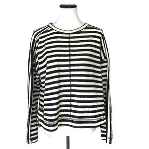 Madewell Striped Slub Pullover Sweater #739